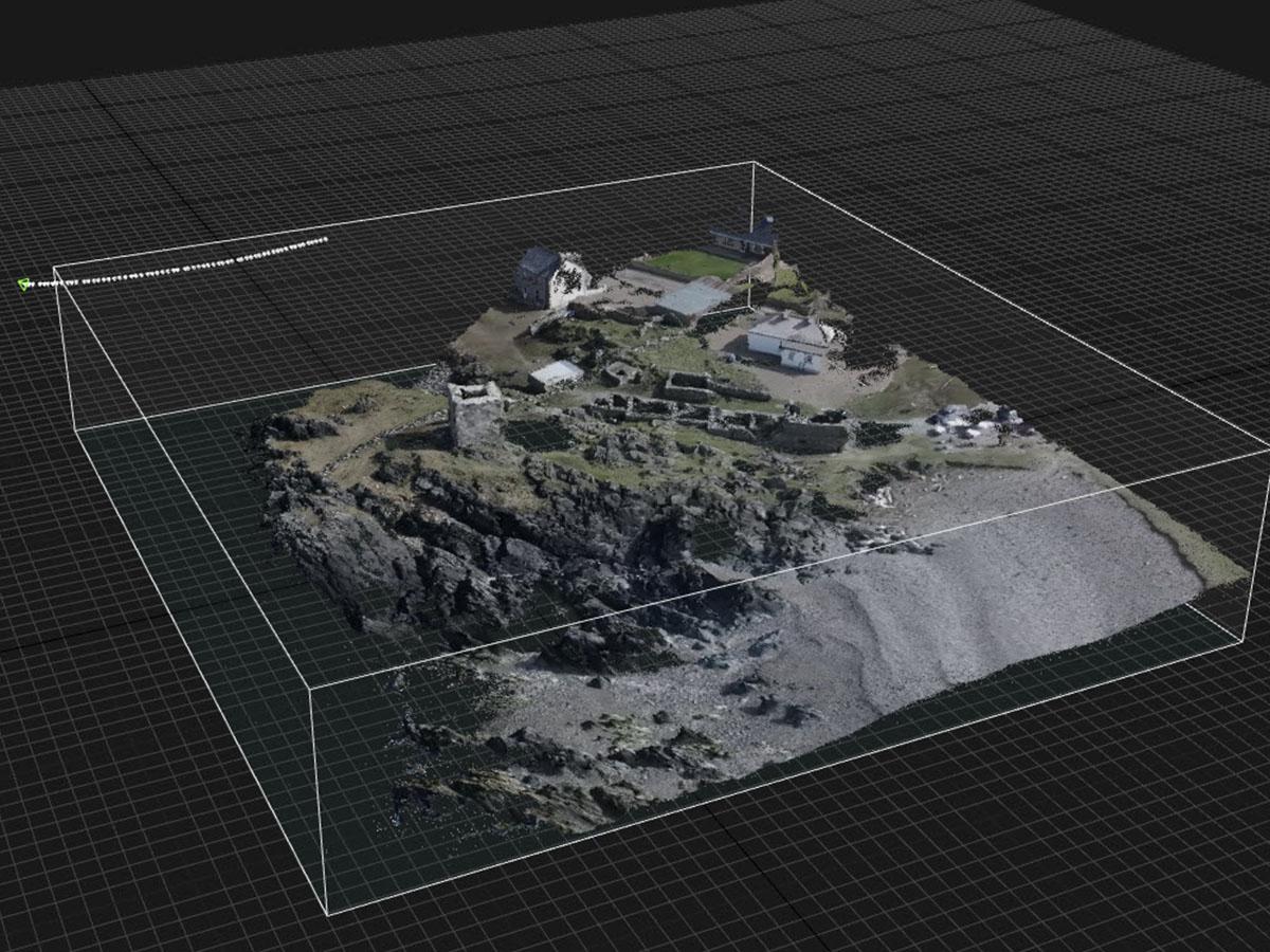 Carrickabraghy Castle 3D
