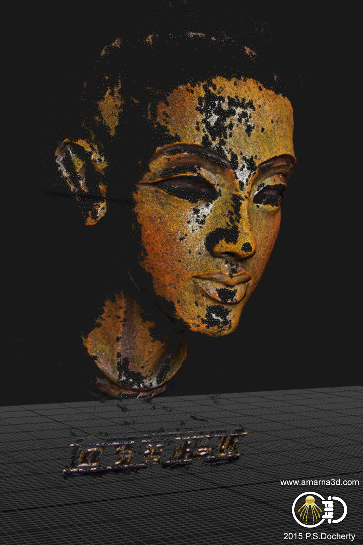 Amarna 3D - Nefertiti / Akhenaten Bust 3D Reconstruction