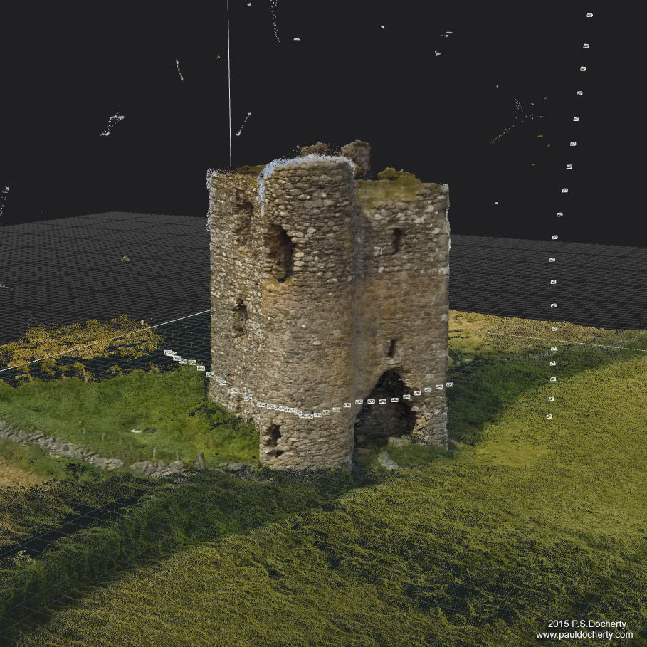 Burt Castle (NW Ireland) once belonging to the O'Doherty clan. 3D reconstruction.